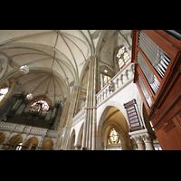 Leipzig, Peterskirche (Kapellenorgel), Chororgel und Hauptorgel