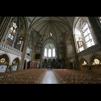 Leipzig, Peterskirche (Kapellenorgel), Innenraum / Hauptschiff in Richtung Chor