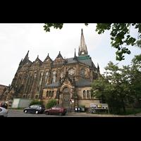 Leipzig, Peterskirche (Kapellenorgel), Seitenansicht