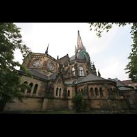 Leipzig, Peterskirche (Kapellenorgel), Ansicht vom Chor aus