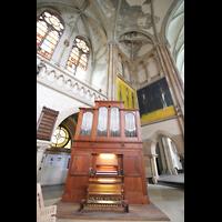 Leipzig, Peterskirche (Kapellenorgel), Chororgel und Gewölbe