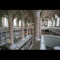 Leipzig, Nikolaikirche, Blick von der Seitenempore in die Kirche