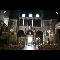 London, Westminster Cathedral, Rückwand mit Hauptportal und Orgelkammer