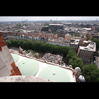 London, Westminster Cathedral, Blick vom Turm aufs Dach