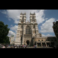 London, Westminster Abbey, Fassade