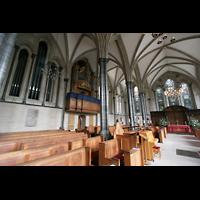 London, Temple Church, Innenraum mit Orgel