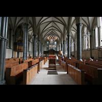 London, Temple Church, Innenraum / Hauptschiff in Richtung Chor