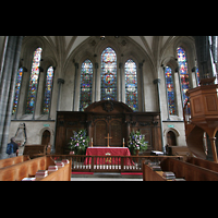London, Temple Church, Altar und Kanzel
