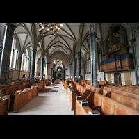 London, Temple Church, Innenraum / Hauptschiff in Richtung Rundkirche