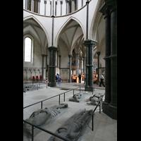 London, Temple Church, Gräber in der Rundkirche