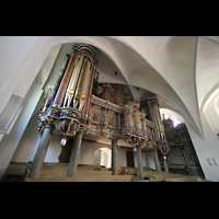 Basedow, Dorfkirche, Orgelperspektive