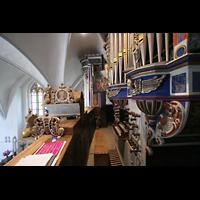Basedow, Dorfkirche, Orgelansicht auf der Orgelempore
