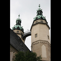Halle (Saale), Marktkirche unserer Lieben Frauen (Chororgel), Doppeltürme auf der Marktplatzseite