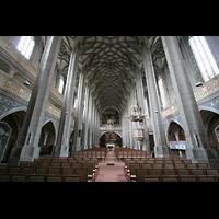 Halle (Saale), Marktkirche unserer Lieben Frauen (Chororgel), Innenraum / Hauptschiff in Richtung Chor
