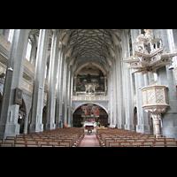 Halle (Saale), Marktkirche unserer Lieben Frauen (Chororgel), Hauptschiff mit Chororgel