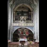 Halle (Saale), Marktkirche unserer Lieben Frauen (Hauptorgel), Chorraum mit Chororgel