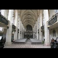 Halle (Saale), Dom (Hauptorgel), Innenraum / Hauptschiff in Richtung Orgel