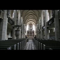 Halle (Saale), Dom (Hauptorgel), Innenraum / Hauptschiff in Richtung Chor