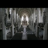 Halle (Saale), Dom (Hauptorgel), Blick von der Orgelempore ins Hauptschiff