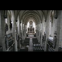 Halle (Saale), Dom (Hauptorgel), Ansicht von der Orgelempore aus