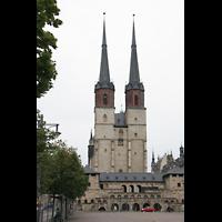 Halle (Saale), Marktkirche unserer Lieben Frauen (Chororgel), Ansicht vom Hallmarkt aus