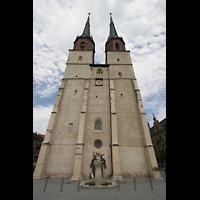 Halle (Saale), Marktkirche unserer Lieben Frauen (Chororgel), Fassade mit Hauptportal