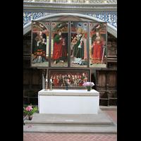 Halle (Saale), Marktkirche unserer Lieben Frauen (Chororgel), Altar