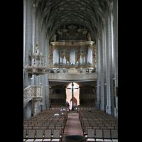 Halle (Saale), Marktkirche unserer Lieben Frauen (Chororgel), Hauptschiff mit großer Orgel