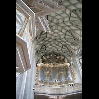 Halle (Saale), Marktkirche unserer Lieben Frauen (Chororgel), Kanzel und große Orgel