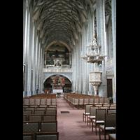 Halle (Saale), Marktkirche unserer Lieben Frauen (Chororgel), Hauptschiff mit Hauptorgel