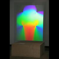 Köln, St. Agnes, Kreuz-Hologramm