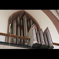 Köln, St. Agnes, Orgelprospekt mit Rückpositiv