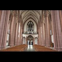 Köln, St. Agnes, Hautpschiff in Richtung Orgel