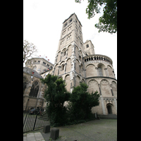Köln, Basilika St. Gereon (Kryptaorgel), Türme und Chor