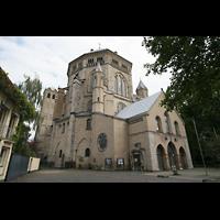 Köln, Basilika St. Gereon (Kryptaorgel), Seitenansicht auf das Okotogon