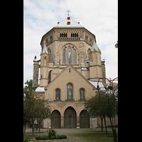 Köln, Basilika St. Gereon (Kryptaorgel), Ansicht von Westen