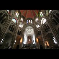 Köln, Basilika St. Gereon (Kryptaorgel), Oktogon mit Langchor