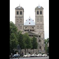 Köln, Basilika St. Gereon (Kryptaorgel), Frontansicht von Osten