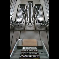 Köln, St. Maternus, Spieltisch mit Orgel