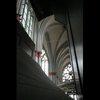 Altenberg, Dom, Blick zwischen Hauptwerk und Oberwerk auf die Trompeteria