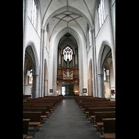 Köln, St. Severin, Innenraum / Hauptschiff in Richtung Orgel