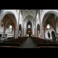 Köln, St. Severin, Innenraum mit Orgel