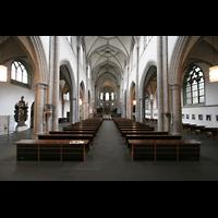 Köln, St. Severin, Innenraum / Hauptschiff in Richtung Chor