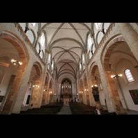 Köln, St. Aposteln (Hauptorgel), Innenraum / Hauptschiff in Richtung Orgel