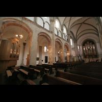 Köln, St. Aposteln (Hauptorgel), Seitenschiff und Orgel