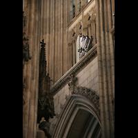 Köln, Dom St.Peter und Maria (Truhenorgel), Hochdrucktuben an der Westwand