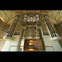 Düsseldorf Oberkassel, Auferstehungskirche (''Europa-Orgel''), Orgel mit Spieltisch