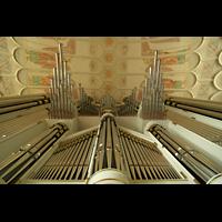 Düsseldorf Oberkassel, Auferstehungskirche (''Europa-Orgel''), Orgelprospekt mit Chamaden