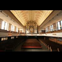 Düsseldorf Oberkassel, Auferstehungskirche (''Europa-Orgel''), Blick vom Altarraum zur Orgel