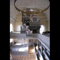 Düsseldorf, Neanderkirche, Seitenempore und Orgel